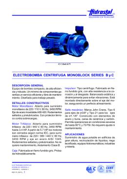 folleto electrobomba centrifuga monoblok serie byc