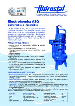 Folleto Electrobomba A2Q Sumergible e Inmrsible