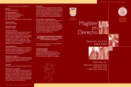 Información Segunda Versión Magíster 2003-2004