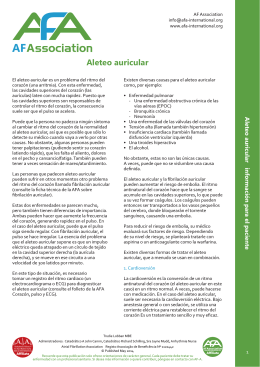 Aleteo auricular - AFA International