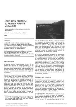 the iron bridge»: el primer puente metálico - digital
