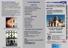Descargar folleto - FaMAF - Universidad Nacional de Córdoba