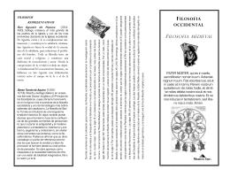 Folleto de Filosofia Medieval