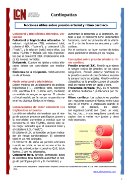 Cardiopatías - Laboratorio LCN