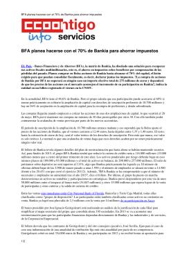BFA planea hacerse con el 70% de Bankia para ahorrar