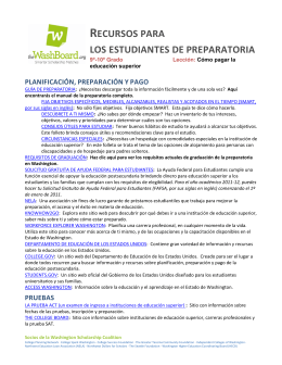 RECURSOS PARA LOS ESTUDIANTES DE PREPARATORIA