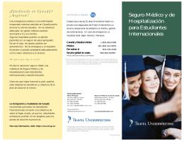 Seguro Médico y de Hospitalización para Estudiantes Internacionales