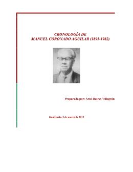 CRONOLOGÍA DE MANUEL CORONADO AGUILAR (1895