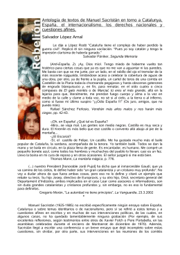 Antología de textos de Manuel Sacristán en torno a Catalunya, E