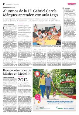 Alumnos de la I.E. Gabriel García Márquez aprenden con aula Lego