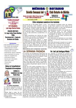 MERIDA ROTARIO - Rotary Club Sant Pol