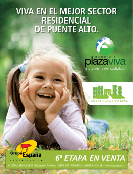 FOLLETO PLAZA VIVA 6 ETAPA