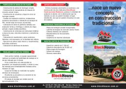 Folleto Block House