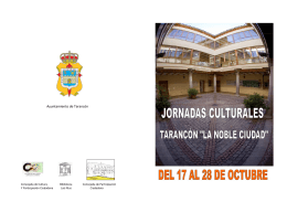 folleto jornada cultural 2014