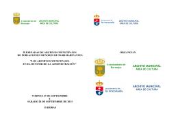Folleto - Asociación de Archiveros de Andalucía
