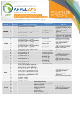 Conferencia 2015 - Paquetes de Patrocinio (web)