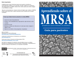 Aprendiendo sobre el MRSA - Minnesota Department of Health
