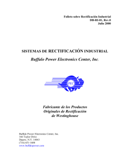 SISTEMAS DE RECTIFICACIÓN INDUSTRIAL Buffalo Power