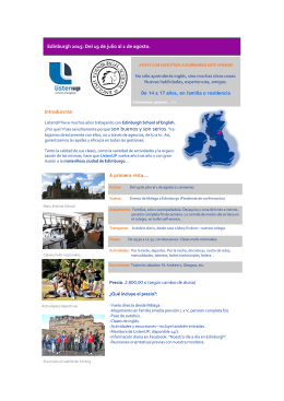 Edinburgh folleto informativo 2015