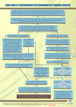 guía para el procedimiento de demandas de pequeña cuantía