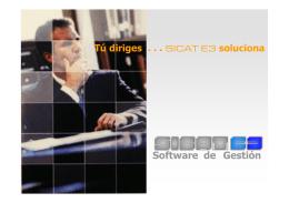 Folleto SICAT E3 para clientes