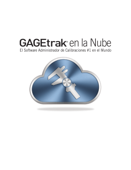 Folleto GAGEtrak en la Nube