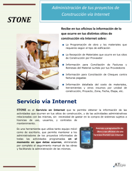 Folleto Stone