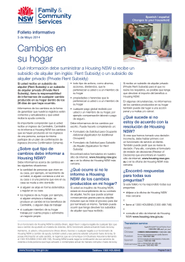Changes to your household fact sheet - Spanish