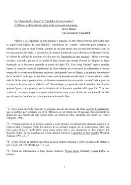"""1 De """"Actualidad y futuro"""" a """"Españoles de tres mundos"""