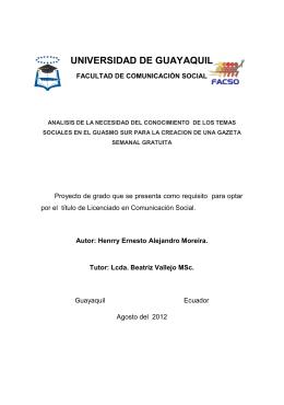 UNIVERSIDAD DE GUAYAQUIL - Repositorio Digital Universidad
