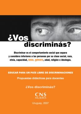 Educar para un país libre de discriminaciones. Propuestas