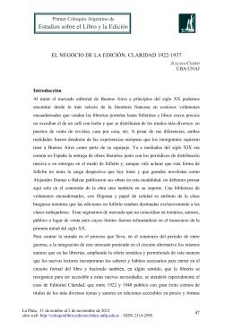 El negocio de la edición. Claridad 1922-1937