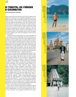 El turista: dE flânEur a chorastEr - TURICOM   La experiencia turística