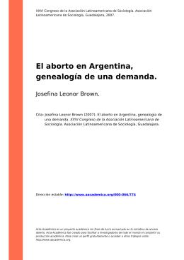 El aborto en Argentina, genealogía de una