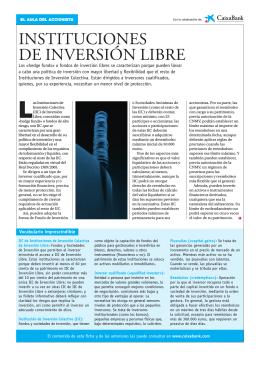 INSTITUCIONES DE INVERSIÓN LIBRE