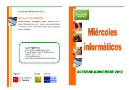 Folleto TALLERES MIÉRC oct-nov12