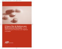 El Nuevo Plan de Medicare para Medicamentos Recetados