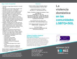 La violencia doméstica en las comunidades LGBTQ+/SGL