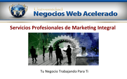 Servicios Profesionales de Marke ng Integral