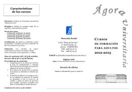 Folleto Agora 2012-2013