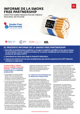 Descarga el Informe de la Smoke Free Partnership