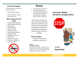 Folleto de Orientación (Bullying)
