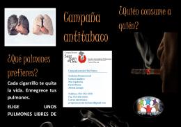 folleto antitabaco 2 - Campaña antitabaco Mejor sin Humo
