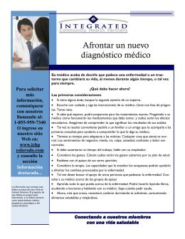 Afrontar un nuevo diagnóstico médico