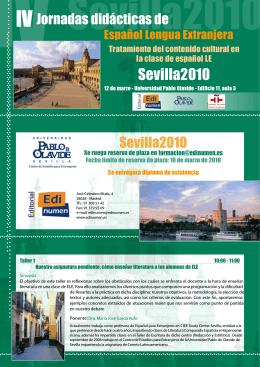 Folleto IV Jornadas CEE& Edinumen Viernes 12 de Marzo 2010_pag1
