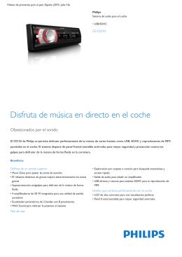 Product Leaflet: Sistema de audio para el coche con USB/SDHC
