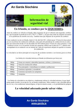 An Garda Síochána Información de seguridad vial