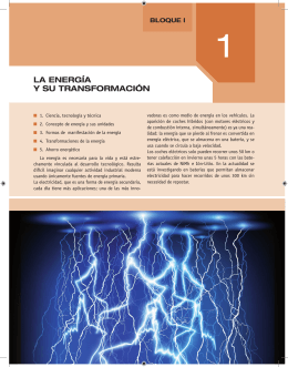 LA ENERGíA Y SU TRANSFORMACIÓN