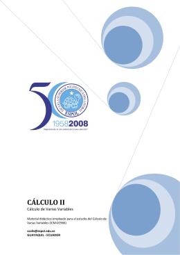 CÁLCULO II - DSpace en ESPOL