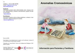 Anomalías Cromosómicas